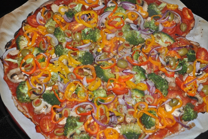 Loaded Veggie Pizza | New Paradigm Health Cookery | Information and ...