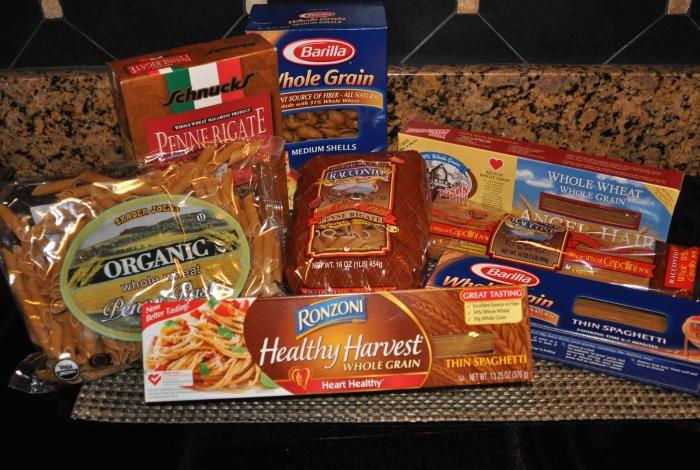 Whole grain pastas